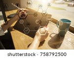 business structure diagram ... | Shutterstock . vector #758792500