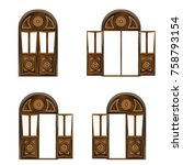 Set Of Large Wooden Doors In...