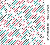 vector parallel diagonal... | Shutterstock .eps vector #758793406