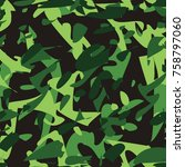 camouflage pattern. military... | Shutterstock . vector #758797060
