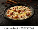 delicious and aromatic long...   Shutterstock . vector #758797069