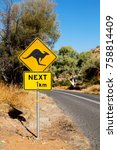 in australia  the sign for wild ... | Shutterstock . vector #758814409
