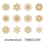 snowflakes icon collection 1.... | Shutterstock .eps vector #758821330
