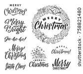 vector set of holidays... | Shutterstock .eps vector #758821480