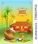 vector illustration of happy... | Shutterstock .eps vector #758825926