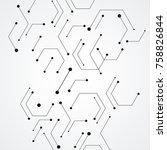 molecular structure pattern... | Shutterstock .eps vector #758826844