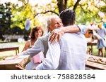 family celebration or a garden... | Shutterstock . vector #758828584