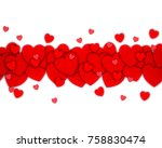 love background red heart... | Shutterstock . vector #758830474