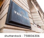 london  november 2017. a sign... | Shutterstock . vector #758836306