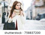 outdoor portrait of young... | Shutterstock . vector #758837200