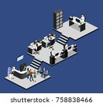 isometric 3d illustration set... | Shutterstock .eps vector #758838466