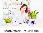physician medicine doctor... | Shutterstock . vector #758841508