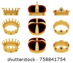 reyes magos. royal crown of... | Shutterstock . vector #758841754
