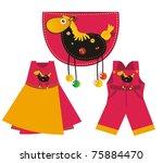 pocket dress - stock vector
