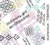 abstract grunge seamless... | Shutterstock .eps vector #758849620