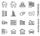 thin line icon set   home ... | Shutterstock .eps vector #758854036