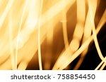 xmas golden transparent... | Shutterstock . vector #758854450