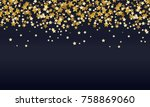 abstract background of falling... | Shutterstock .eps vector #758869060