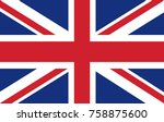 uk flag. vector illustration. | Shutterstock .eps vector #758875600