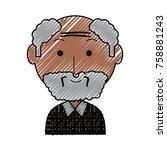 cartoon elderly man with...   Shutterstock .eps vector #758881243