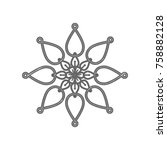 mandala sign illustration....   Shutterstock .eps vector #758882128