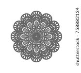 mandala sign illustration....   Shutterstock .eps vector #758882134