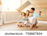 concept housing a young family. ... | Shutterstock . vector #758887834