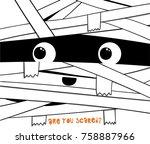 funny mummy illustration for... | Shutterstock .eps vector #758887966