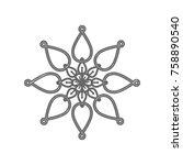 mandala sign illustration....   Shutterstock .eps vector #758890540