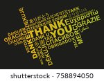 thank you in different... | Shutterstock .eps vector #758894050