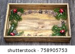 holidays and decor concept... | Shutterstock . vector #758905753