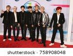 los angeles   nov 19   bts ... | Shutterstock . vector #758908048