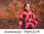 little cute girl walking in... | Shutterstock . vector #758912179