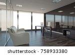 modern office cabinet. meeting... | Shutterstock . vector #758933380