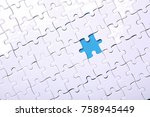 white details of a puzzle on...   Shutterstock . vector #758945449