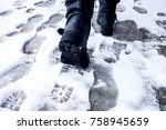 Dirty Footprints In The Snow I...
