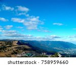 view from mount ai petri.... | Shutterstock . vector #758959660