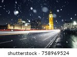 big ben and westminster on a... | Shutterstock . vector #758969524