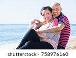 ordinary positive happy mature... | Shutterstock . vector #758976160