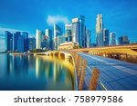 amazing singapore skyline at... | Shutterstock . vector #758979586