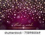 vector abstract shining falling ... | Shutterstock .eps vector #758980069