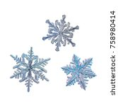Three Snowflakes Isolated On...