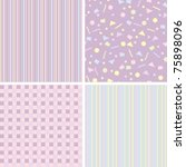 set of backgrounds for scrapbook | Shutterstock .eps vector #75898096