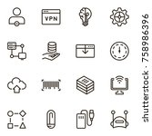 machine learning icon set.... | Shutterstock .eps vector #758986396