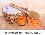 accessories for massage.... | Shutterstock . vector #759004060