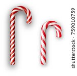 red and white striped candy...   Shutterstock .eps vector #759010759