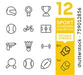 sport accessories collection.... | Shutterstock .eps vector #759012856