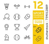 sport accessories collection.... | Shutterstock .eps vector #759012889