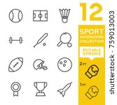 sport accessories collection.... | Shutterstock .eps vector #759013003