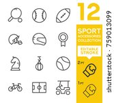 sport accessories collection.... | Shutterstock .eps vector #759013099